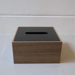 <ウォルナット>木製蓋式ティッシュボックス(ハーフサイズ) ホテルズ | Tissue box HOTELS walnut || L.E.S original|les|02