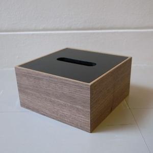 <ウォルナット>木製蓋式ティッシュボックス(ハーフサイズ) ホテルズ | Tissue box HOTELS walnut || L.E.S original|les|03