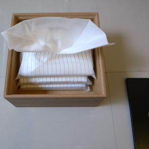<ウォルナット>木製蓋式ティッシュボックス(ハーフサイズ) ホテルズ | Tissue box HOTELS walnut || L.E.S original|les|05