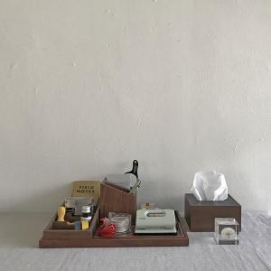 <ウォルナット>木製蓋式ティッシュボックス(ハーフサイズ) ホテルズ | Tissue box HOTELS walnut || L.E.S original|les|06