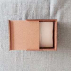 <ハーフ・ウォルナット>木製スライド式 ティッシュケース |les|04