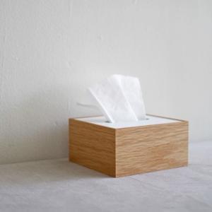 <ハーフサイズ/OAK/WH>木製蓋式ティッシュボックス ホテルズ |les