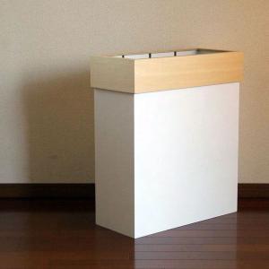 分別ができるエコな木製ごみ箱 ハンガーダスト ホワイト ||  HANGERDUST W|les