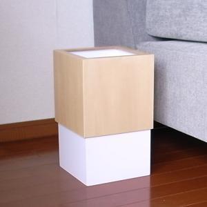ダストボックス W CUBE  white ||  パープルホワイト|les