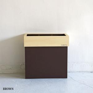 分別対応木製ゴミ箱 ハンガーダストSトール ブラウン || Hanger Dust S tall  BROWN |les