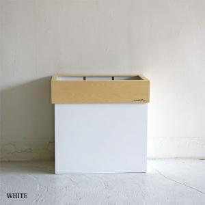 分別ができる木製ごみ箱 ハンガーダストSトール ホワイト || Hanger Dust S tall  WHITE |les