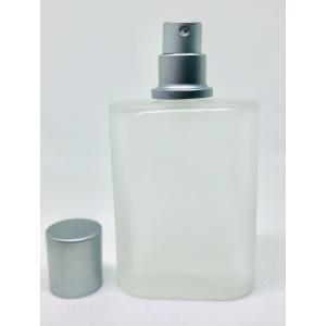 【フロスト遮光加工 スプレー瓶】50ml シルバー ホワイト 白 アロマ 香水 美容液 化粧水 コン...