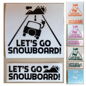 ステッカーセット カラー 車ロゴ & メインロゴ 各1枚|letsgosnowboard