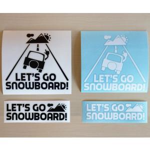 ステッカーセット 車ロゴ & メインロゴ 各1枚|letsgosnowboard