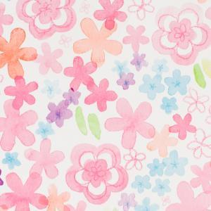 ラッピング包装紙 ウォーター★花柄(カラーフラワー)|leun