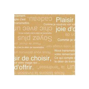ラッピング包装紙 カフェオレ|leun