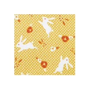 ラッピング包装紙 花うさぎ|leun