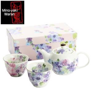 食器 ギフト 美濃焼 和藍ブランド 花工房 ポット茶器 和食器 和風 食器セット プレゼント|leun