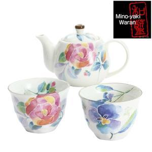 食器 ギフト 美濃焼 和藍 花ことば ポット茶器 和食器 和風 食器セット プレゼント|leun