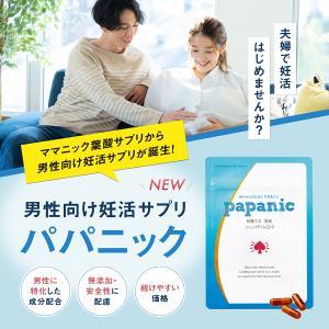 男性 妊活 サプリ パパニック 1ヶ月分 93粒 有機 マカ 亜鉛 葉酸 コエンザイムQ10 栄養機能食品 ビタミンE ビタミン カルニチン α-リポ酸|levante