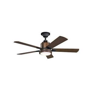 "Kichler 300052DBK Colerne 52"" Ceiling Fan with LED..."