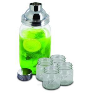Smart Planet 5-Piece Mason Jar Cocktail Shaker Set...