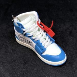 Pair Air Jordan 1 I High Retro Off White UNC Blue ...