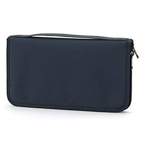MUJI Passport case Navy with Clear Pocket USA ver.