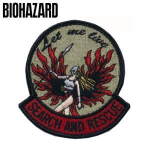 BIOHAZARD PATCH LET ME LIVE(刺繍) バイオハザード レット ミー リブ 刺繍ワッペン Resident Evil レオン クリス クレア Umbrella アンブレラ 生化危机