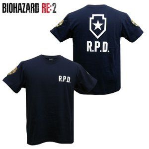 バイオハザード RE:2 Tシャツ R.P.D. BIOHAZARD S.T.A.R.S. スターズ biohazard Resident Evil レオン クレア 生化危机|level4shop|02