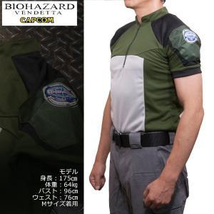 バイオハザード ヴェンデッタ クリスコンバットTシャツ biohazard vendetta  Resident Evil クリス STARS アンブレラ Umbrella 生化危机|level4shop|04