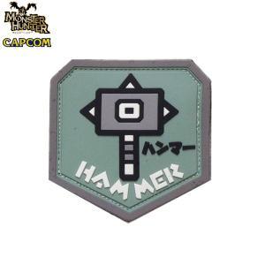 正規品 モンスターハンター 武器アイコン ハンマー PVCパッチ ベルクロ付き モンハン ワッペン 狩り monster hunter capcom カプコン level4shop