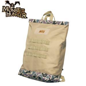 モンスターハンター モンスター柄 2ウェイBAG トート リュック Monster Hunter モンハン メンズ ミリタリー カジュアル アウトドア ジンオウガ level4shop