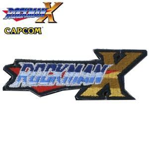 正規品 ロックマンX ロゴ 刺繍パッチ ベルクロ付き エックス ROCKMAN Mega Man 洛克人大戰 ロックマン X DUSH エグゼ ロール ブルース ゼロ|level4shop