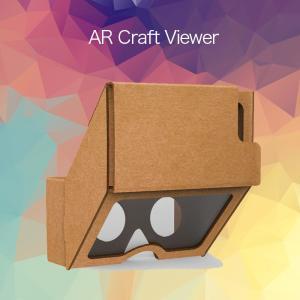 3D AR クラフトビューアー arゴーグル ヘッドセット動画 3D映像 スマホ メガネ iphone vr|lfs