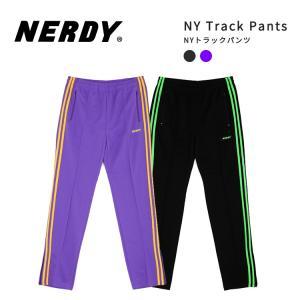 NERDY ノルディ NY Track Pants トラック パンツ 韓国 ZICO 原宿 メンズ レディース ユニセックス ジャージ メンズジャージ レディースジャージ nerdy 正規品|lfs