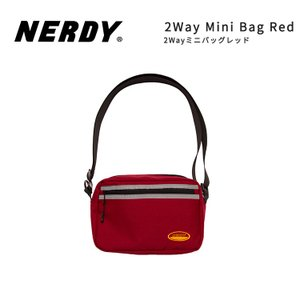 NERDY ノルディ 2WAY MINI BAG_RED ミニバッグ 韓国 ZICO 原宿 メンズ レディース ユニセックス ショルダーバッグ nerdy 正規品|lfs