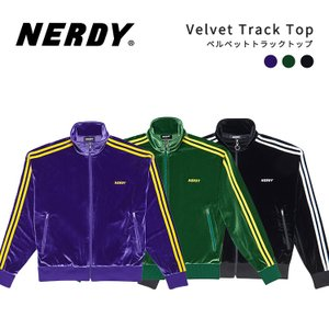 NERDY ノルディ Velvet Track Top ベルベット トラック トップ 韓国 ZICO 原宿 メンズ レディース ユニセックス ジャージ nerdy 正規品|lfs