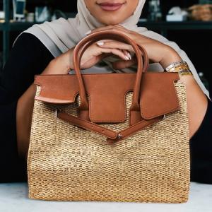 カゴバッグ かごバッグ レディース トートバッグ 大人気ペーパーを編みこんだかごバッグ ペーパーバッグ 鞄 bag|lfs