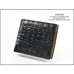 ゴダン (GODANE) カイマンクロコ ダブルファスナー長財布 Njcw8096cp/Black