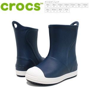 クロックス ブーツ キッズ crocs bump it boot kids [203515-43W] ネイビー レインブーツ【PIPI-33trhh】●|lib-ys