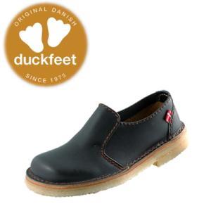 ダックフィート duckfeet カジュアルシューズ 1600 クレープソール・スリッポン 黒 レディース メンズ|lib-ys