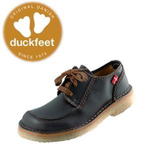 ダックフィート duckfeet カジュアルシューズ 2010 クレープソール・レースアップ 黒 レディース メンズ|lib-ys