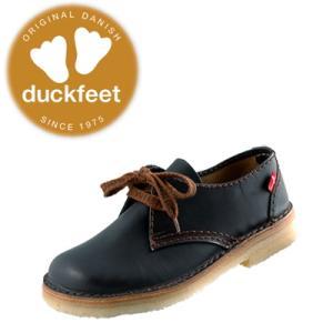 ダックフィート duckfeet カジュアルシューズ 330 クレープソール本革・レディース・メンズレースアップ 黒|lib-ys