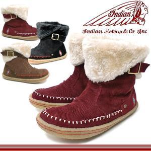 インディアンブーツ レディース ボア付きショートブーツ Indian ID-1287 インディアンモトサイクル スニーカー ladies boots|lib-ys