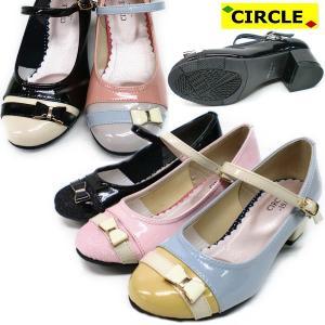 キッズ フォーマルシューズ CIRCLE TNS250 かわいいリボン付きキッズ ジュニア こども フォーマル 女の子 靴 ストラップ kids|lib-ys