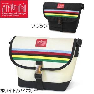 マンハッタン ポーテージ メッセンジャーバッグ Manhattan Portage Rainbow Stripes Casual Messenger Bag PM1605JRRS|lib-ys