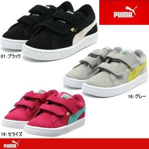 プーマ スニーカー キッズ スエード PUMA SUEDE 2 STRAPS KIDS 356274|lib-ys