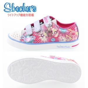 スケッチャーズ キッズ ジュニア スニーカー ライトアップ機能搭載 [10608L] 光る靴 SKECHERS Twinkle Toes Twinkle Breeze-Pop-Tastic 【PIPI-28rjjd】●|lib-ys