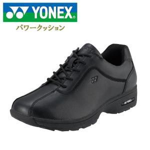 ヨネックス パワークッション レディース ウォーキングシューズ ブラック YONEX SHWLC81|lib-ys