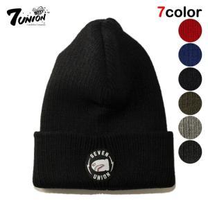 7UNION セブンユニオン ニット帽 帽子 ニットキャップ...