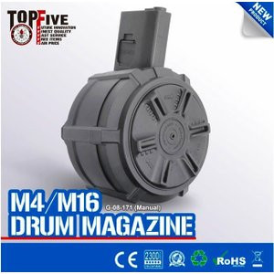新発売!! G&G G-08-171  2300R  Drum Magazine For  M4/M16|liberator