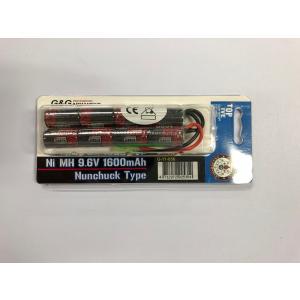 G&G  G-11-056 NI-MH 9.6V 1600mAh ( Nunchuck Type)  ( ニッケル水素 バッテリー ヌンチャクタイプ)|liberator