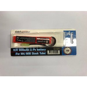 G&G G-11-079  11.1V  800mAh  Li-Po Battery   (For M4/M16 Stock Tubu)  (リポバッテリー) (スティック)|liberator