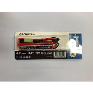 G&G G-11-082  G-Power Li-Po Battery7.4v 1100mAh   (リポバッテリー) (Two-piece) セパレート|liberator